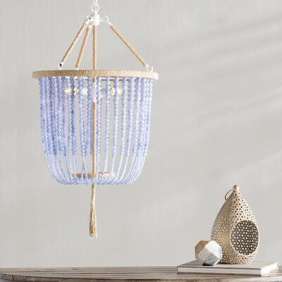 Leyva 3-Light Foyer Pendant Shade Color: Blue