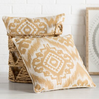 Drury 100% Cotton Throw Pillow Size: 18 H x 18 W, Color: Saffron