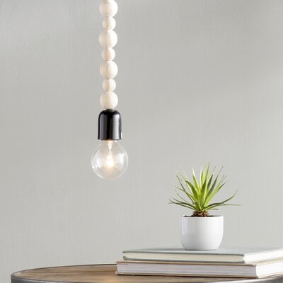 Eugenie 1-Light Mini Pendant Finish: Natural