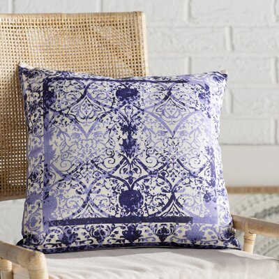 Shailene Throw Pillow Color: Cream/Navy Blue