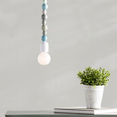 Eugenie 1-Light Mini Pendant Finish: Blue/Gray/Green