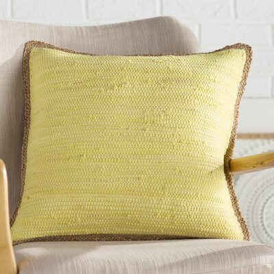 Yarrow Throw Pillow Color: Yellow