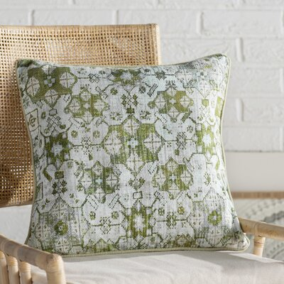 Gardner Square Cotton Throw Pillow Size: 20 H x 20 W x 4 D, Color: Mint/Lime/Dark Green/Olive/Tan/Moss