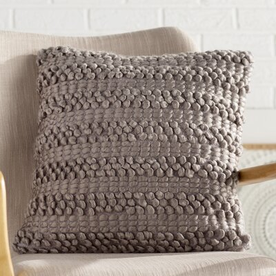 Prony Woven Stripes Jute Throw Pillow Color: Silver Gray