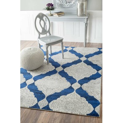 Farrish Blue Area Rug Rug Size: Rectangle 9 x 12