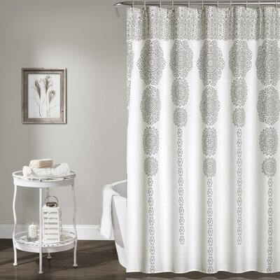 Nemeara Shower Curtain Color: Gray