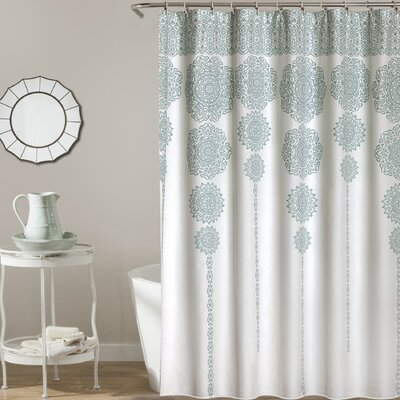 Nemeara Shower Curtain Color: Blue