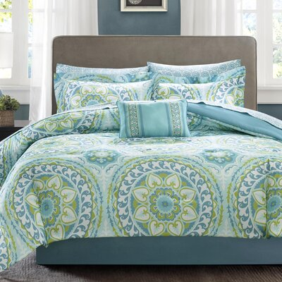 Taddart Quilt/Coverlet Set Size: Queen, Color: Aqua