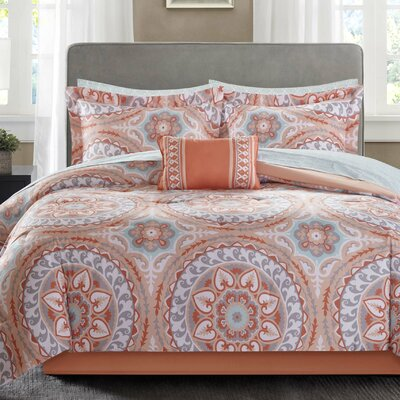 Taddart Quilt/Coverlet Set Size: Queen, Color: Coral