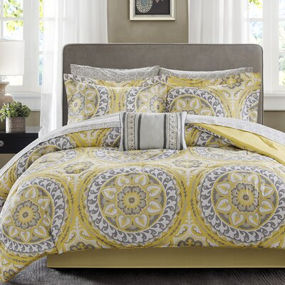 Taddart Quilt/Coverlet Set Size: California King, Color: Yellow
