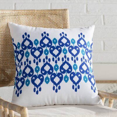 Sabrina Geometric Print Throw Pillow Size: 20 H x 20 W, Color: Dark Blue