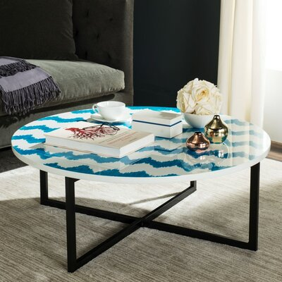 Vejle Coffee Table Finish: Blue / White