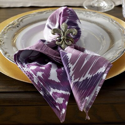 Oliver Free Spirit Geometric Print Napkin Color: Purple