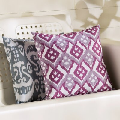 Sabrina Geometric Outdoor Throw Pillow Size: 18 H x 18 W, Color: Lavender