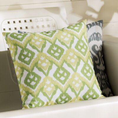 Sabrina Geometric Outdoor Throw Pillow Size: 18 H x 18 W, Color: Green