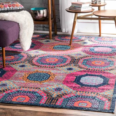 Lawrence Blue Area Rug Rug Size: Runner 28 x 8