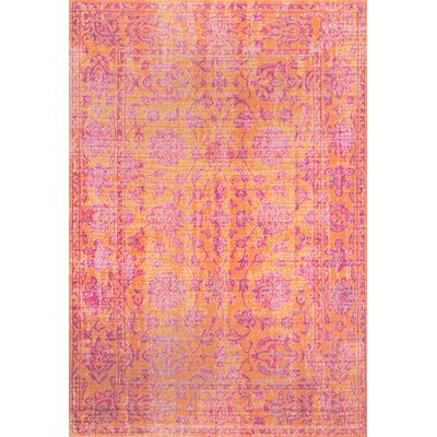 Byron Orange Area Rug Rug Size: Rectangle 5 x 75