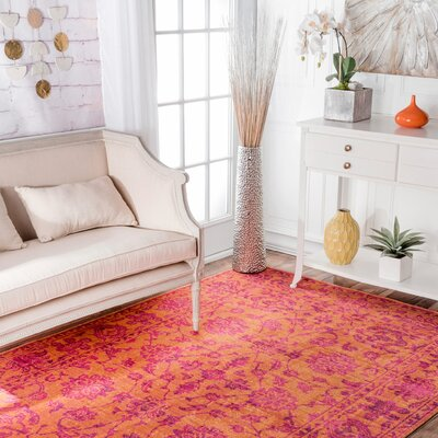 Byron Orange Area Rug Rug Size: 8 x 10