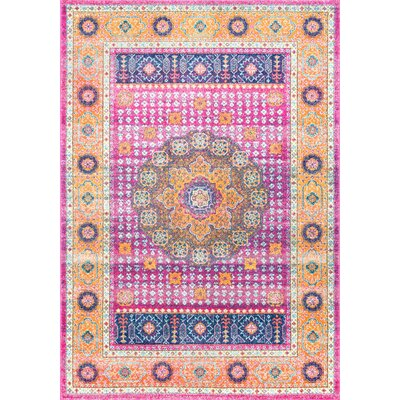 Braiden Pink Area Rug Rug Size: Rectangle 8 x 10