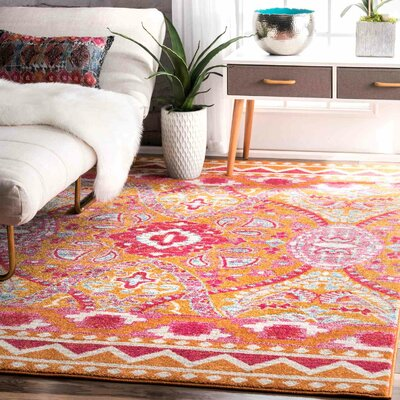Jacoby Orange Area Rug Rug Size: 4 x 6