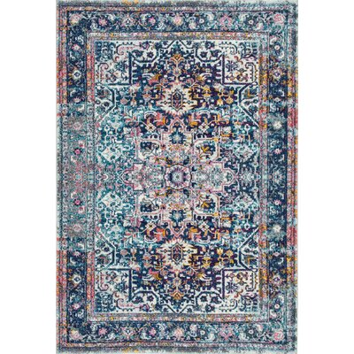 Burciaga Blue Area Rug Rug Size: Rectangle 5 x 75