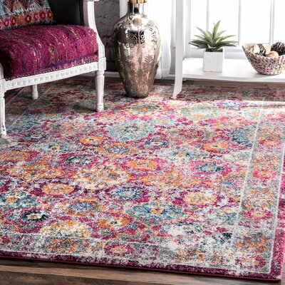 Paige Pink Area Rug Rug Size: 9 x 12