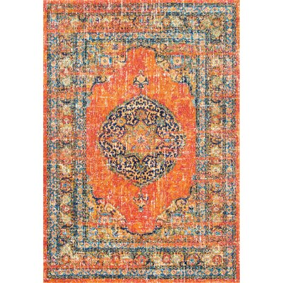 Pamela Orange Area Rug Rug Size: Rectangle 4 x 6