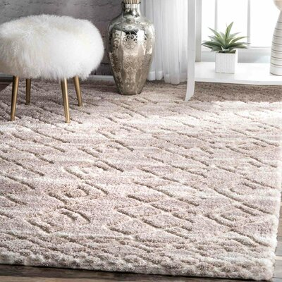 Sam Light Beige Area Rug Rug Size: 53 x 76