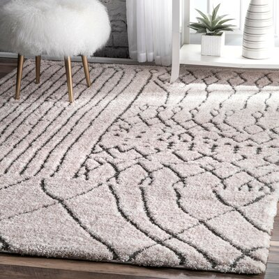 Cason Light Beige Area Rug Rug Size: Rectangle 4 x 6