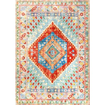Fontayne Orange Area Rug Rug Size: 53 x 77