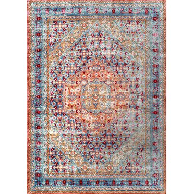 Ramon Light Blue Area Rug Rug Size: 9 x 12