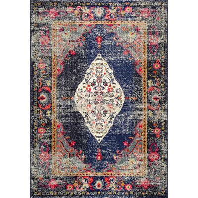 Paradiso Navy Area Rug Rug Size: Rectangle 10 x 14