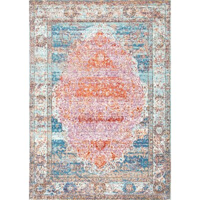 Ernesto Orange Area Rug Rug Size: 53 x 77