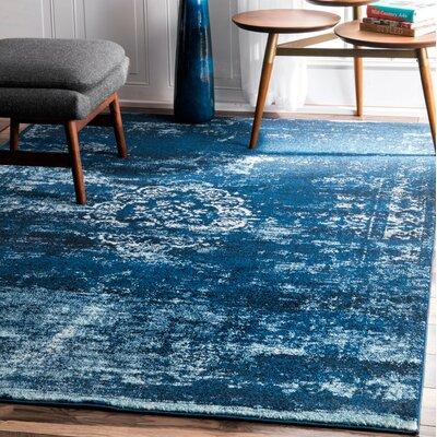 Burdett Blue Area Rug Rug Size: 9 x 12