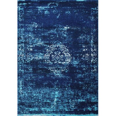Burdett Blue Area Rug Rug Size: Rectangle 5 x 75