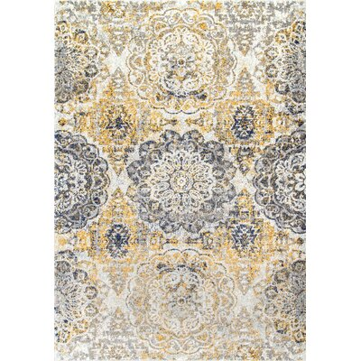 Kelvin Gold Area Rug Rug Size: Rectangle 4 x 6
