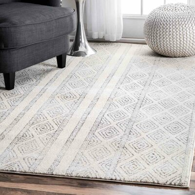 Keagan Gray Area Rug Rug Size: Runner 28 x 8