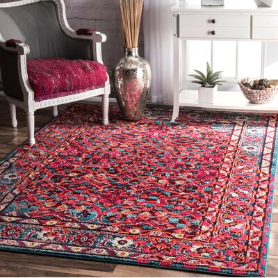 Malcolm Pink Area Rug Rug Size: Rectangle 710 x 11