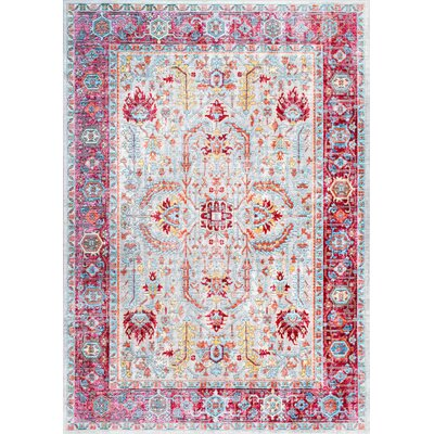 Burditt Pink Area Rug Rug Size: Rectangle 9 x 12