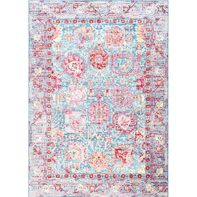 Bruce Blue Area Rug Rug Size: Rectangle 710 x 1010