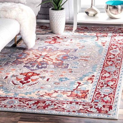 Burgan Red Area Rug Rug Size: 53 x 77
