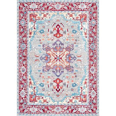 Burgan Red Area Rug Rug Size: Rectangle 9 x 12