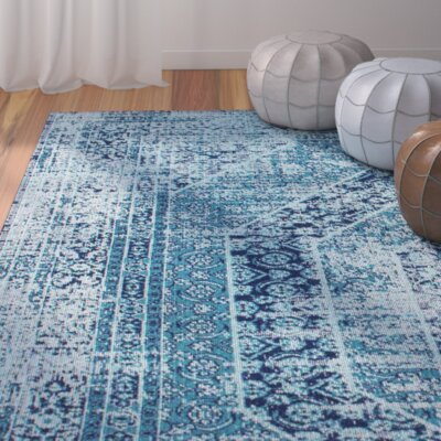 Chianna Vintage Blue Area Rug Rug Size: Rectangle 8 x 10