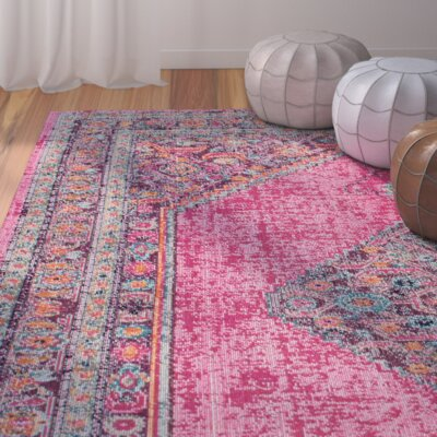 Christensen Pink Area Rug Rug Size: Rectangle 4 x 6