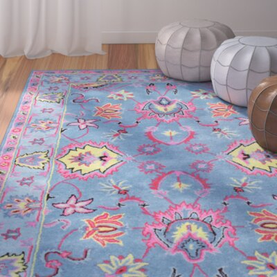 Trisha Hand-Tufted Blue Area Rug Rug Size: Runner 26 x 8