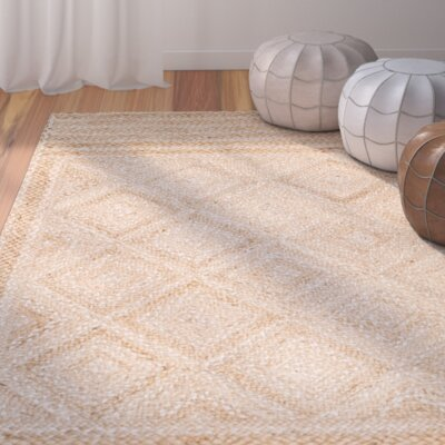 Leonard Hand-Woven Natural Area Rug Rug Size: Rectangle 6 x 9