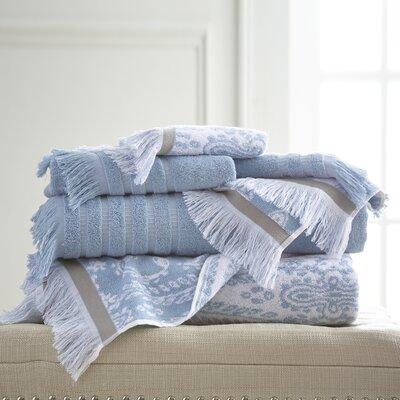6 Piece Towel Set Color: Blue
