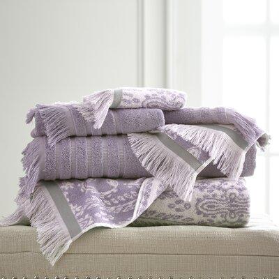 6 Piece Towel Set Color: Grey Lavender