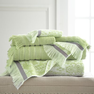 6 Piece Towel Set Color: Sage Green