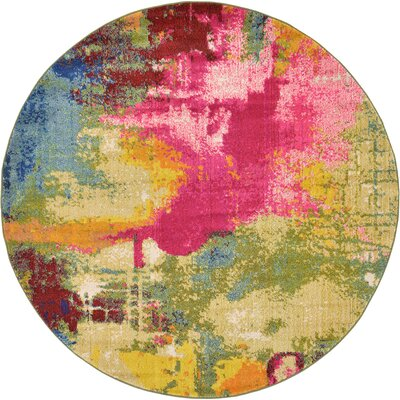 Aquarius Multi Area Rug Rug Size: Round 6